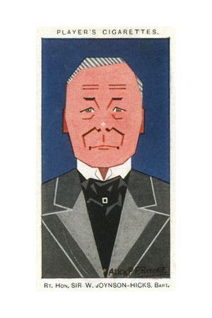 Sir William Joynson-Hicks - Conservative Politician