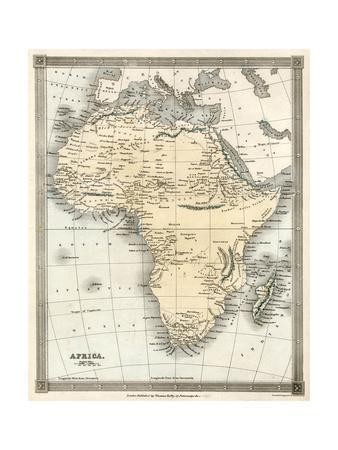Map, Africa 1842 Giclee Print by Alexander Findlay at AllPosters.com