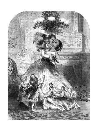 Kissing under the Mistletoe, 1865