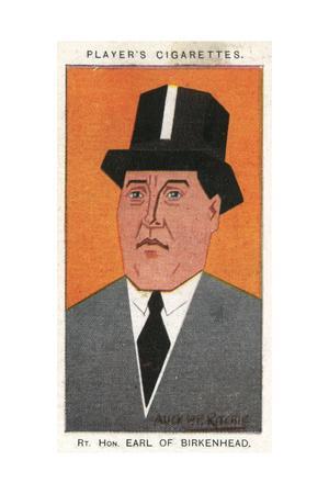 Rt Hon. Earl of Birkenhead