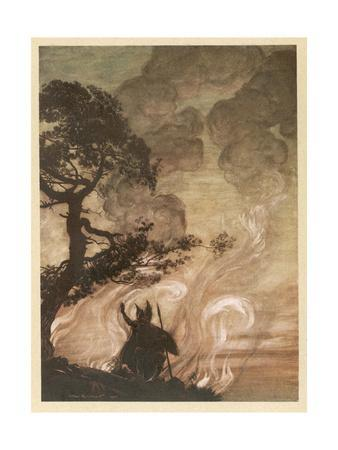 Wotan at the Pyre