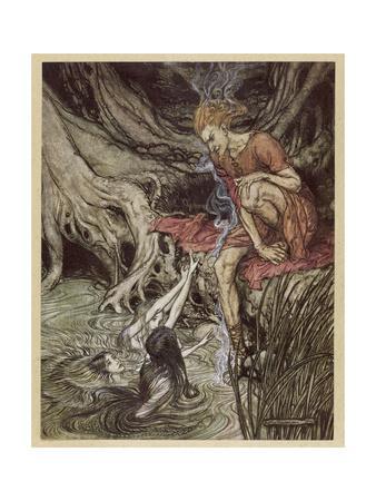 Loke and Rhine Maidens