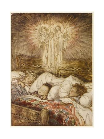 Children Dreaming of Angels at Christmas