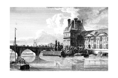Paris, France - Bains Vigier, Pont Du Louvre