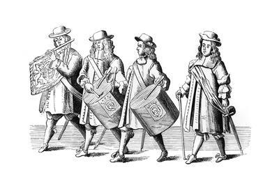 Regimental Musicians at Monck's Funeral, 1670