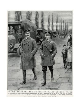 Prince Edward of Wales at the Front