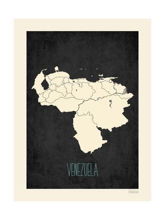 Black Map Venezuela