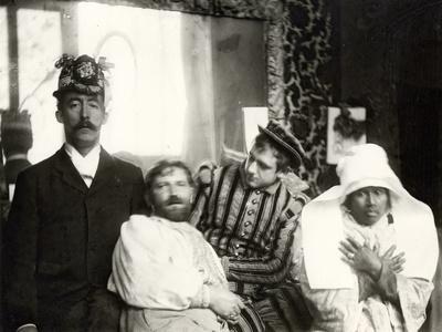Mucha with His Friends in the Studio, Rue De La Grande Chaumière, Paris