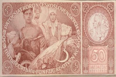 50 Crown Banknote of the Republic of Czechoslovakia, 1931