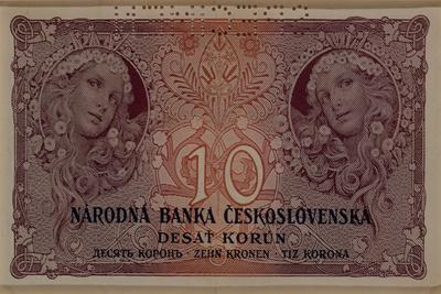 10 Crown Banknote of the Republic of Czechoslovakia, 1920