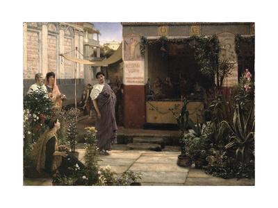 A Roman Flower Market, 1868