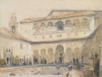 The Court of Myrtles, Alhambra (Or Hall of Myrtles, Alhambra) 1833