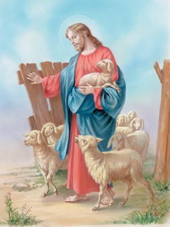 Jesus with a Herd of Sheep, Shepherd
