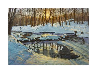Winter Brook Sunset