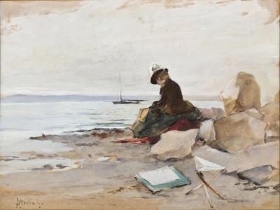 Albert Stevens - Painter at the Beach