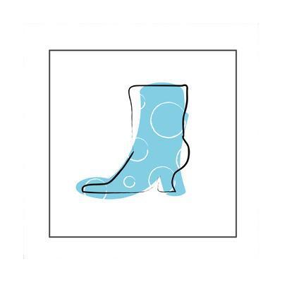 Blue High Heeled Boot