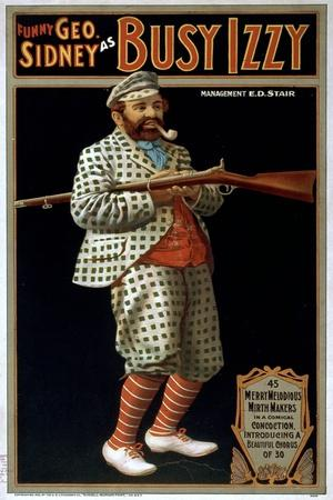 Funny George Sidney as Busy Izzy
