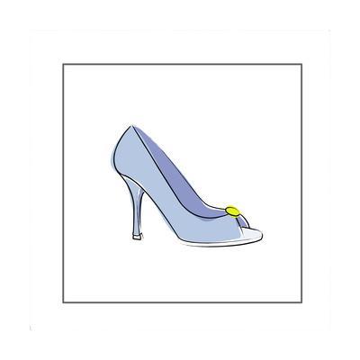 High Heeled Open Toed Shoe