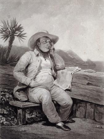 Portrait of Napoleon I in St Helena - by Samuel William Reynolds