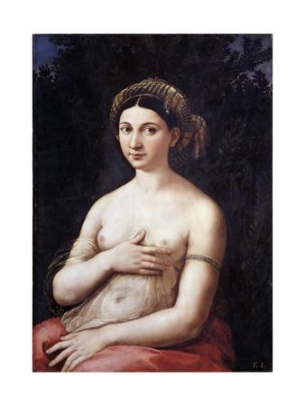 Portrait of a Young Woman or La Fornarina by Raphael