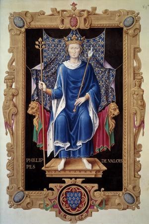 Portrait of King Philip VI of Valois - by Jean Du Tillet