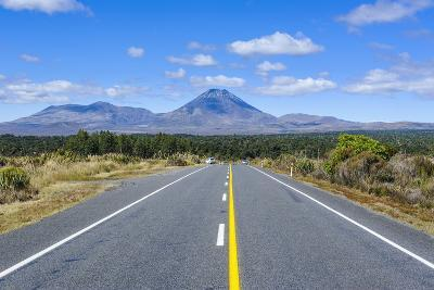Road Leading to Mount Ngauruhoe, Tongariro National Park, North Island, New Zealand, Pacific