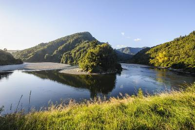 Beautiful Buller River in the Bulller Gorge, Along the Road from Westport to Reefton, South Island
