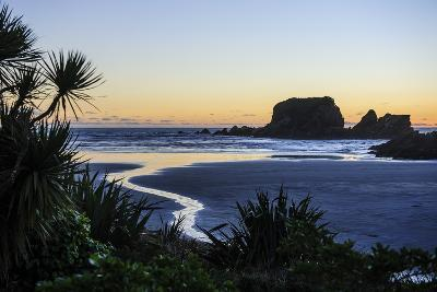 Sunset at Cape Foulwind Near Westport, West Coast, South Island, New Zealand, Pacific