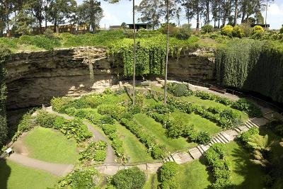 Victorian Terraced Gardens in Umpherston Sinkhole in Limestone, Mount Gambier, South Australia