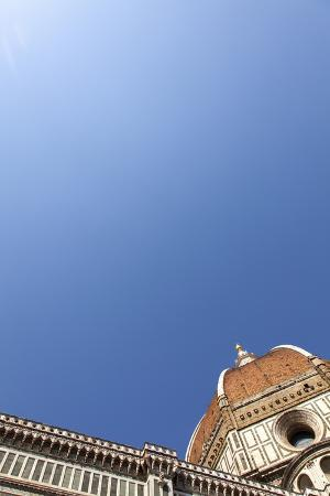 The Dome of Santa Maria Del Fiore and Blue Sky, Florence, Tuscany, Italy, Europe