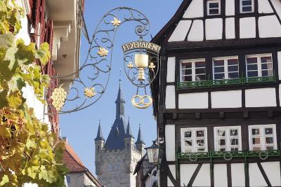 Old Town with Blauer Turm Tower, Bad Wimpfen, Neckartal Valley, Baden Wurttemberg, Germany, Europe