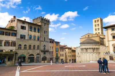 Piazza Vasari (Piazza Grande), Arezzo, Tuscany, Italy, Europe