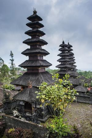 Overlook over the Pura Besakih Temple Complex, Bali, Indonesia, Southeast Asia, Asia