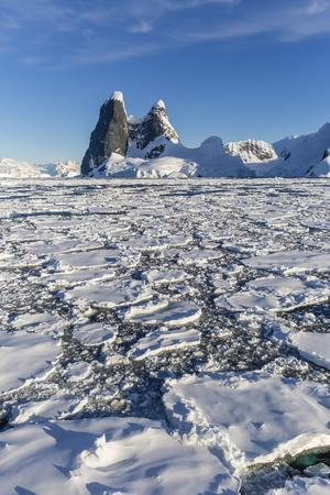 Transiting the Lemaire Channel in Heavy First Year Sea Ice, Antarctica, Polar Regions