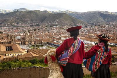 Elevated View over Cuzco and Plaza De Armas, Cuzco, Peru, South America