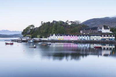 Portree Harbour on the Isle of Skye, Inner Hebrides, Scotland, United Kingdom, Europe