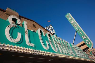 Low Angle View of Sign of El Cortez Hotel and Casino, Fremont Street, Las Vegas, Nevada, USA