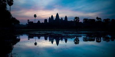 Temple at the Lakeside, Angkor Wat, Angkor Thom, Siem Reap, Angkor, Cambodia