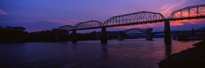 Bridge across a River, Walnut Street Bridge, Tennessee River, Chattanooga, Tennessee, USA