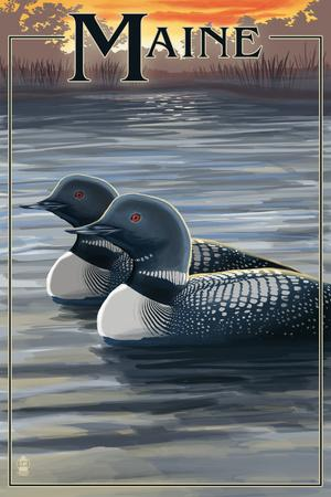 Maine - Loon Family