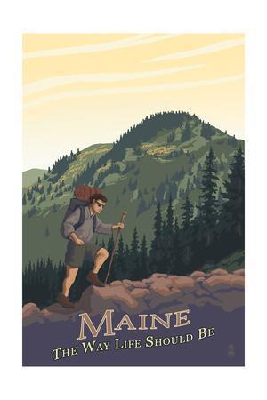 Maine - Hiking Scene - the Way Life Should Be
