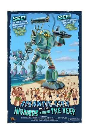 Atlantic City, New Jersey - Invaders from the Deep