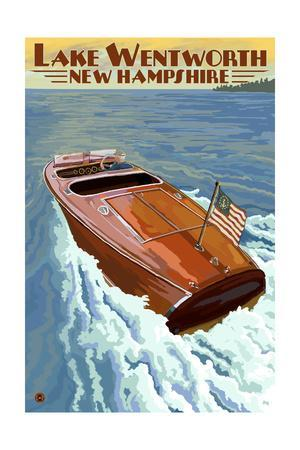 Lake Wentworth, New Hampshire - Wooden Boat