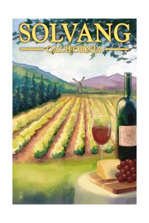 Solvang, California - Vineyard Scene