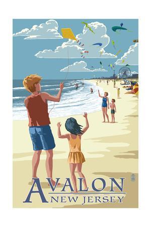 Avalon, New Jersey - Kite Flyers