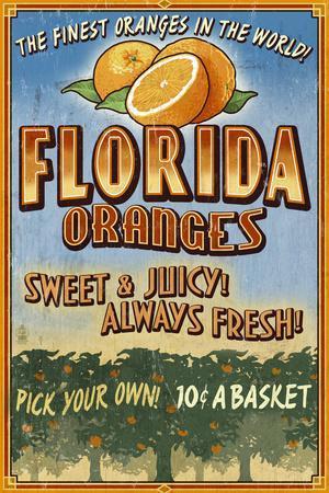 Florida - Orange Grove Vintage Sign