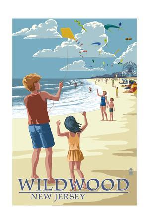 Wildwood, New Jersey - Kite Flyers