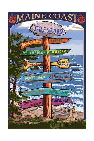Islesboro, Maine - Sign Destinations - Version 2