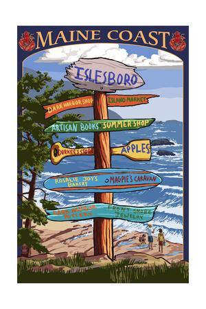 Islesboro, Maine - Sign Destinations - Version 3