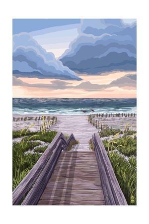 Beach Boardwalk Scene